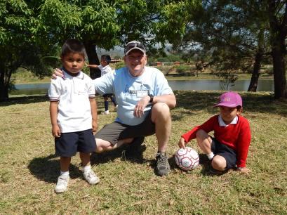 Jim Feguson with Kinder